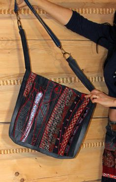Hippie boho crazy ties and jeans bag by jamfashion on Etsy