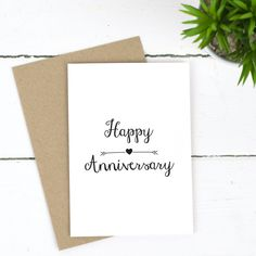 Anniversary Love Arrow Card by Russet and Gray, the perfect gift for Explore more unique gifts in our curated marketplace. Happy Anniversary Lettering, Happy Anniversary Cards, Anniversary Ideas, Star Gift, Diy Birthday, Birthday Gifts, Diy Gifts For Boyfriend, Congratulations Card, Kraft Envelopes