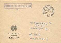 Sonneberg Mengersgereuth-Hammern Volkspolizei Dienstpost nach Gera