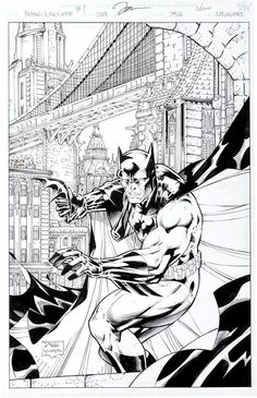 Batman: Black and White #1 (1996) by Jim Lee, inks by Scott Williams *