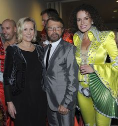 """Agnetha and Björn at the premiere of the musical """"Mamma Mia!"""" in Copenhagen/Denmark 2010"""