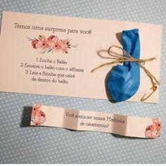 Muuuito amor por esse convite criativo para madrinha 😍  Siga @soparanoivasoficial  Convite by @leticiacabraldesign ❣ . . #noivas2019…