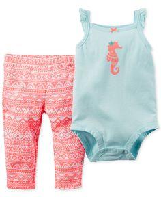 Carter\'s Baby Girls\' 2-Piece Bodysuit & Leggings Set - Kids & Baby - Macy\'s