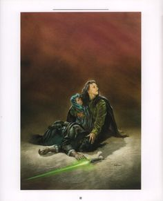 Star Wars - Dave Dorman Art - Tales of The Jedi - Nomi Sunrider picks up her murdered husband's lightsaber and starts the path to becoming a jedi Star Wars Books, Star Wars Characters, Star Wars Jedi, Star Wars Art, Star Wars Legacy, Mara Jade, Star Wars Drawings, Galactic Republic, Star Wars Concept Art