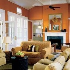 Burnt orange living room wall with our black couch   Front room   Benjamin Moore  Burnt Caramel    Orange Living  . Burnt Orange Living Room. Home Design Ideas