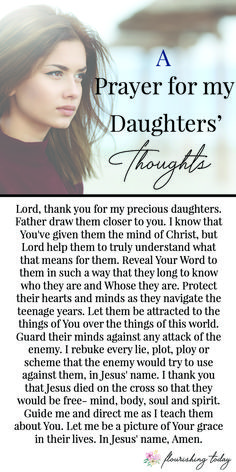 3 Powerful Prayers for My Daughter as She Grows Up - Cute Quotes Prayer Scriptures, Bible Prayers, Faith Prayer, Prayer Quotes, My Prayer, Prayer For Discernment, Prayer Board, Moms In Prayer, Prayer For A Miracle