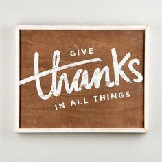 Give Thanks Framed Board