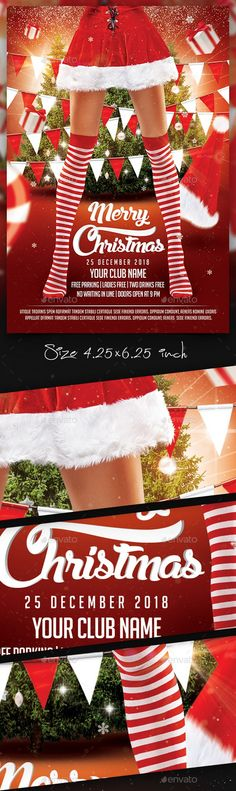 Christmas Party Flyer Template By Stylewish Download Psd File
