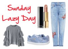 """Domingo Twitter"" by milena-lister-quevedo on Polyvore featuring moda, Citizens of Humanity, Chicwish, Puma y Chanel"