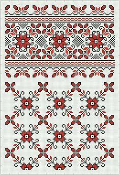 Blackwork Embroidery, Folk Embroidery, Cross Stitch Embroidery, Embroidery Patterns, Cross Stitch Charts, Cross Stitch Designs, Cross Stitch Patterns, Palestinian Embroidery, Knitting Charts