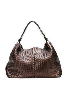 Alright....you can come also .....Large Metallic Cervo Shoulder Bag, Brown by Bottega Veneta at Neiman Marcus.