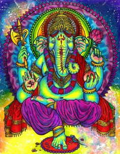 ART lord ganesha - chewbaccabigsis http://chewbaccabigsis.deviantart.com/art/Lord-Ganesha-191056093?q=gallery:psychedelictreasures/19843188=251