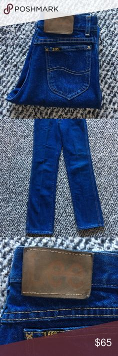 Lee Denim Vintage Lee Denim. Classic straight silhouette. Some stains. Minimal wear. No stretch, high quality denim. Unisex, may fit your Son or Daughter. Lee Jeans Straight Leg