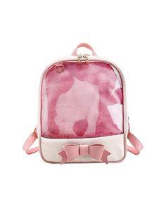 Leather School Bag for Girls Cute Backpack Large Capacity Laptop  Transparent Waterproof Satchel Knapsack - Pink - C7184ZYDWKQ. Women s Bags b94bbb124e18b