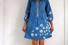 Stylish Dress Book 2 : Dress 'V' | Flickr - Photo Sharing! ... hand dyed fabric