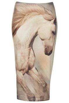 £28 Horse Print Tube Skirt