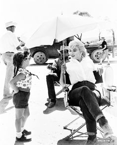Marilyn on the set of The Misfits.