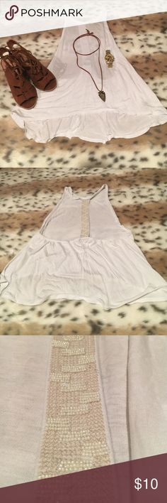 Sexy Open-back Tank Great condition! Super versatile! Very cute! Size small! 100% viscose (exclusive of decoration). American Eagle Outfitters Tops Tank Tops