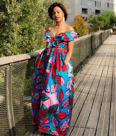 The complete collection of Exotic Ankara Gown Styles for beautiful ladies in Nigeria. These are the ideal ankara gowns Ankara Maxi Dress, African Maxi Dresses, African Fashion Ankara, Latest African Fashion Dresses, Ankara Gowns, African Print Fashion, African Attire, African Wear, Women's Fashion Dresses