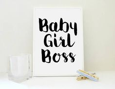 Baby Girl Boss No2 Print Baby Print Printable Art Print