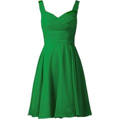 ANTS Women's V-neck Chiffon Bridesmaid Dresses Short Prom Gown ($30) ❤ liked on Polyvore featuring dresses, gowns, short dresses, green evening gown, short evening dresses, prom dresses and chiffon gowns