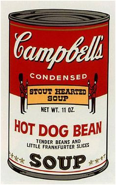 Andy Warhol Campbell's Hot Dog Bean Soup Can