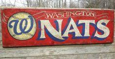 Washington Nationals baseball Sign , original, hand painted,NATS, faux vintage, wooden  sign,. $110.00, via Etsy.