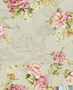 Countryside Florals  [CSF-61305] CountrySide Florals | DesignerWallcoverings.com | Luxury Wallpaper | @DW_LosAngeles | #Custom #Wallpaper #Wallcovering #Interiors