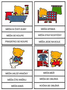 Pro Šíšu: Medvedi - cteni s porozumenim Aurora, Math Worksheets, Reading Comprehension, Montessori, Language, Education, Comics, Learning, School