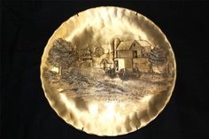 Wendell August Forge Handmade Bronze Wall Decor Plate 9""