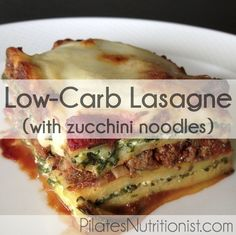 Low carb lasagne with zucchini noodles is a crowd pleaser and I bet your guests will never believe that it packs in nearly 7 pounds of vegetable goodness!