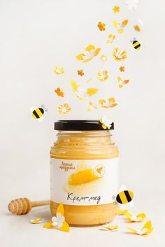 Posters for local company that produces natural honey, syrup and stuff like… Honey Packaging, Jar Packaging, Packaging Design, Brand Packaging, Bee Syrup, Homemade Syrup, Web Design, Bee Art, Poster Design Inspiration