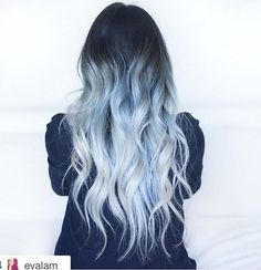 I want it to look like this, silver/gray all over with bluish bits in the gray. But not black at the top