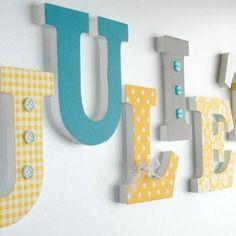 Juliette - déco lettres en bois - prénom