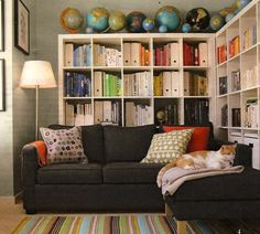 1000 Images About Bookshelves Over Behind Sofa On