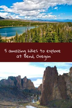 5 Bend Oregon USA hikes - beautiful landscape, scenic hikes that you can do as easy day hikes with Bend Oregon as a base. Check out all these fantastic places to hike to on the link below and you'll want to explore Bend and the beautiful areas of Oregon #TravelDestinationsUsaNortheast #TravelDestinationsUsaOregon