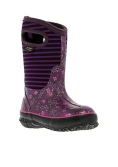 Bogs  Classic Flower Stripe Boot - Girl InfantToddlerYouth Sizes 7 - 6