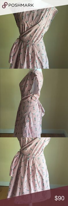 """Anthropologie Maeve Bathing Beauty Dress SZ 16 EUC Anthropologie Maeve Bathing Beauty Women's Dress. Size 16. Excellent Used Condition. Sold out . Armpit To Armpit 24"""" Waist 46"""" Length 27"""" front 28"""" back Anthropologie Dresses Midi"""