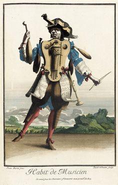 Recueil des modes de la cour de France, 'Habit de Musicien' Jean Berain (France, 1637/1640-1711) Jacques Lepautre (France, Paris, 1653-1684)...