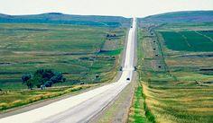 On a roadtrip in North Dakota