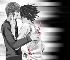 L x Light  You can stab me as many times as you like because nothing will hurt as much as it does to love you...