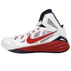Nike Hyperdunk 2014 EP USAB HOME White Red Mens Basketball Shoes Paul George
