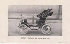 Small Car from Dion-Bouton, ca. 1900, Brussels #Booktower