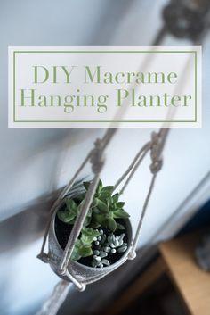 macrame hanging planter diy