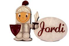 Plaquita Cavallero personalizada sobre madera y pintada a mano