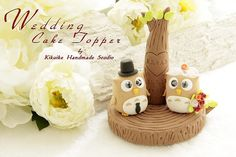 Wedding Cake Topper-love owls with with love tree,wedding ring holder by charles fukuyama, via Flickr<3