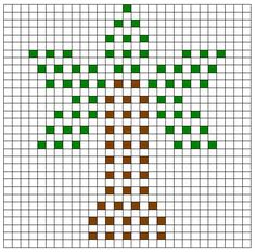 Crochet Bobble Stitch Chart Palm Tree