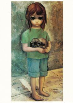 Big Eyes  Vintage Print Photo  1964 NEW PUPPY