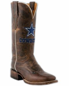 Women's Dallas Cowboys Tan Madras Horseman Boots Where are the Texas Rangers boots!?