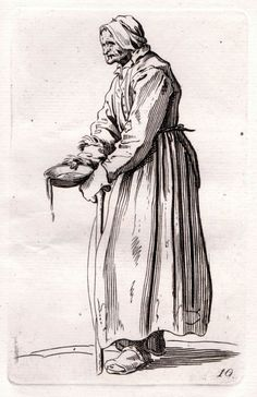 "Jacques Callot "" Beggar Holding a Pan "" Etching #Realism"